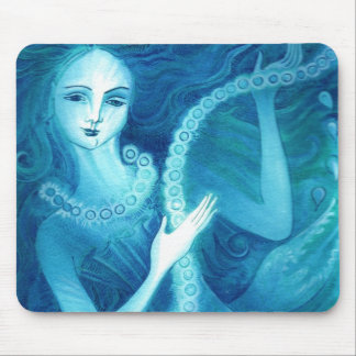 Mermaid with a String of Pearls Mouse Pad