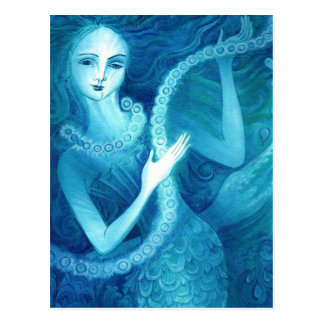 Mermaid with a String of Pearls Postcard