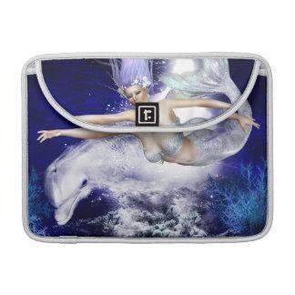 "Mermaid with Dolphin  13"" MacBook Sleeve"