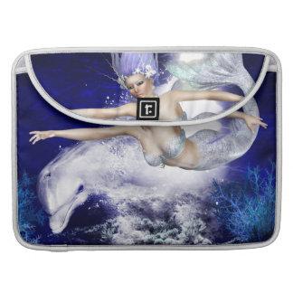 "Mermaid with Dolphin  15"" MacBook Sleeve Sleeves For MacBook Pro"