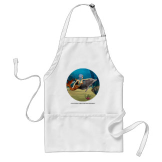 Mermaid with Dolphin Adult Apron