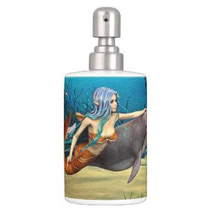 Mermaid With Dolphin Bathroom Set