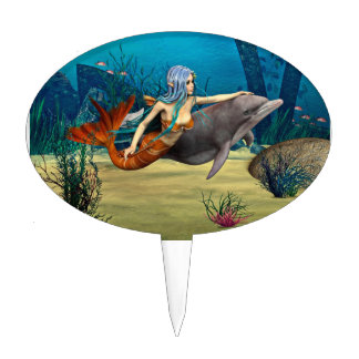Cute Mermaid Cake Toppers Zazzle