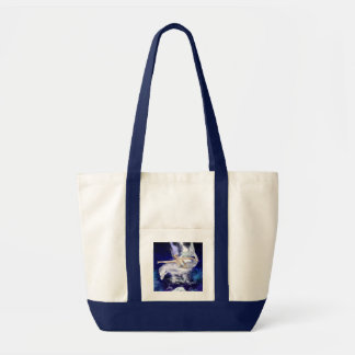Mermaid with Dolphin Canvas Tote Bag