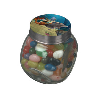 Mermaid with Dolphin Jelly Belly Candy Jar