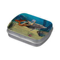 Mermaid with Dolphin Jelly Belly Candy Tin