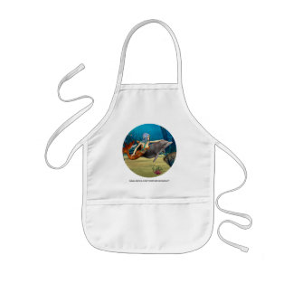 Mermaid with Dolphin Kids' Apron