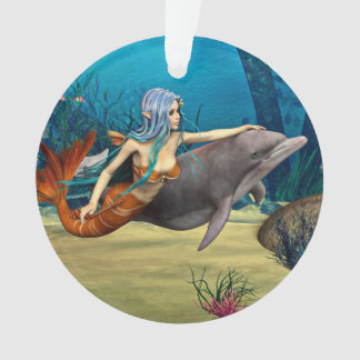 Mermaid with Dolphin Ornament