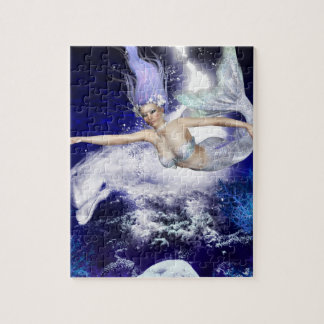 Mermaid with Dolphin Puzzle