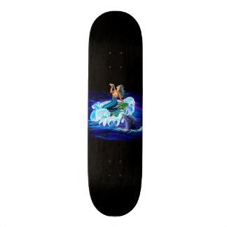 Mermaid with Dolphin Skateboard