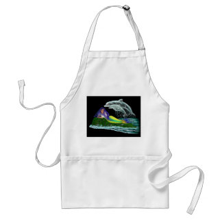 Mermaid with Dolphins Adult Apron