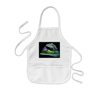 Mermaid with Dolphins Kids' Apron