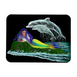 Mermaid with Dolphins Magnet