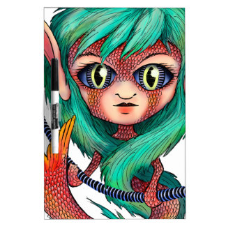 Mermaid with Large Eyes Dry-Erase Board