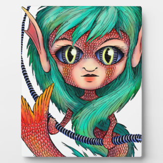 Mermaid with Large Eyes Photo Plaque