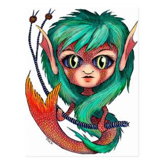 Mermaid with Large Eyes Postcard