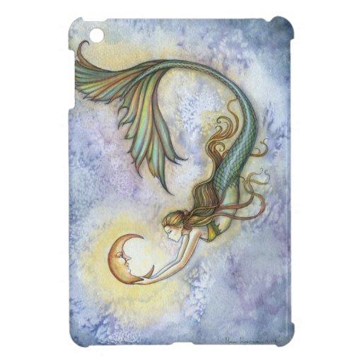 Mermaid with Moon Fantasy Art iPad Mini Case