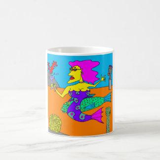 Mermaid with Parrotfish Coffee Mug