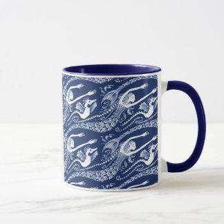 Mermaid with Pearls and Seahorse Mug