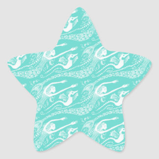 Mermaid with Pearls and Seahorse Star Sticker