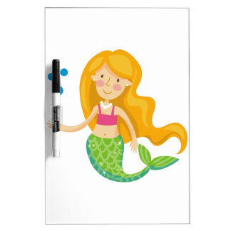 Mermaid With Pearls Dry Erase Board