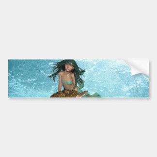 Mermaid with Sea Turtle  Bumper Sticker