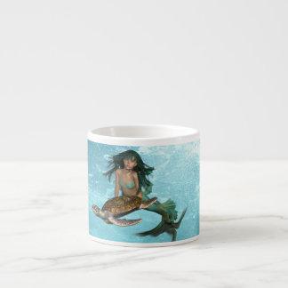 Mermaid with Sea Turtle Specialty Mug Espresso Mugs