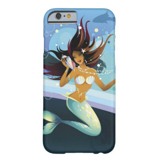Mermaid with shell to ear barely there iPhone 6 case