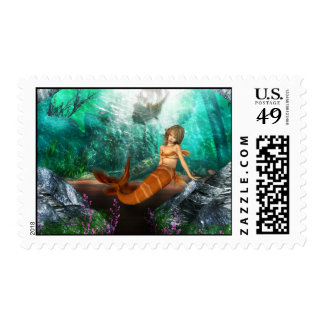 Mermaid with Shipwreck Stamps