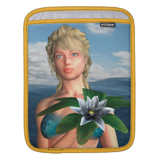 Mermaid with Water Lily Flower Sleeve For iPads