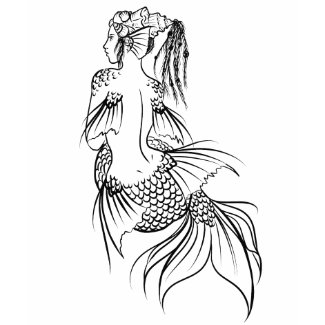 Mermaid Withe shirt
