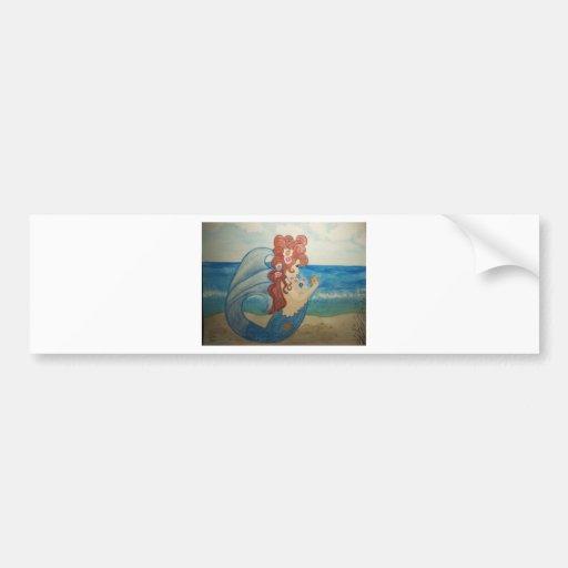 Mermaid wonder bumper sticker