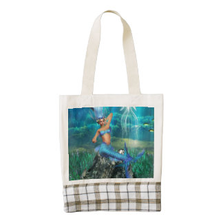 Mermaid Zazzle HEART Tote Bag