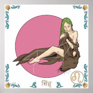 Mermaid Zodiac Print - Leo
