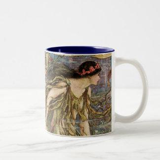 Mermaids-1 Two-Tone Coffee Mug