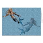 Mermaids 2 greeting cards