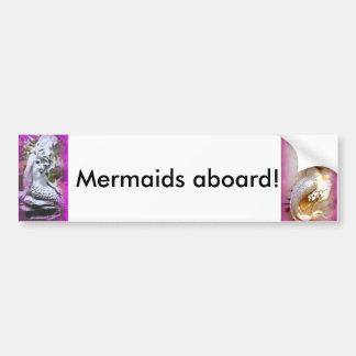 mermaids aboard bumper sticker