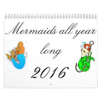 Mermaids all year long calendar