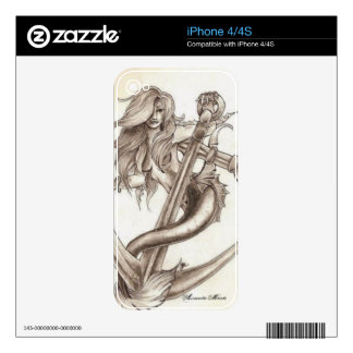 Mermaids and Anchors Phone Skins iPhone 4 Skins