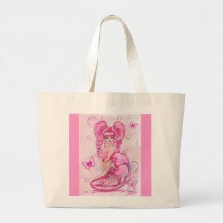 """""""Mermaids and Butterflies: Pink"""" fairy TOTE BAG"""