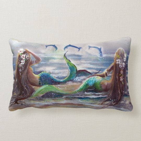 Mermaids and Dolphins Pillow