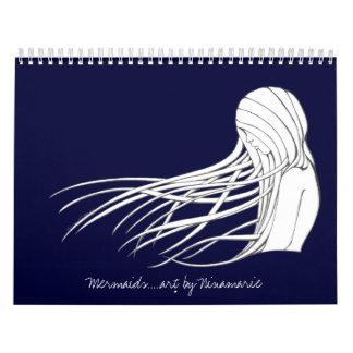 Mermaids.....art by Ninamarie Calendar
