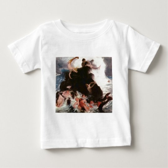 Mermaids At Play Baby T-Shirt