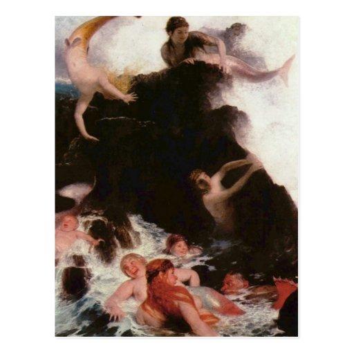 Mermaids At Play Postcards