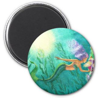 Mermaids Beautiful Sea Garden Magnet