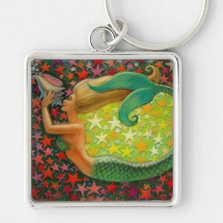 Mermaid's Circle Fantasy Mermaid Art Keychain
