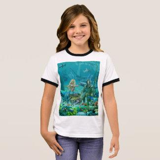 Mermaid's Coral Reef Treasure Ringer T-Shirt