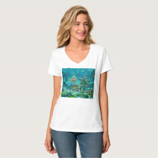 Mermaid's Coral Reef Treasure T-Shirt