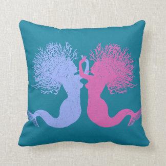Mermaids Dance Throw Pillow