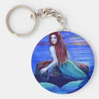 Mermaid's Dinner Basic Round Button Keychain